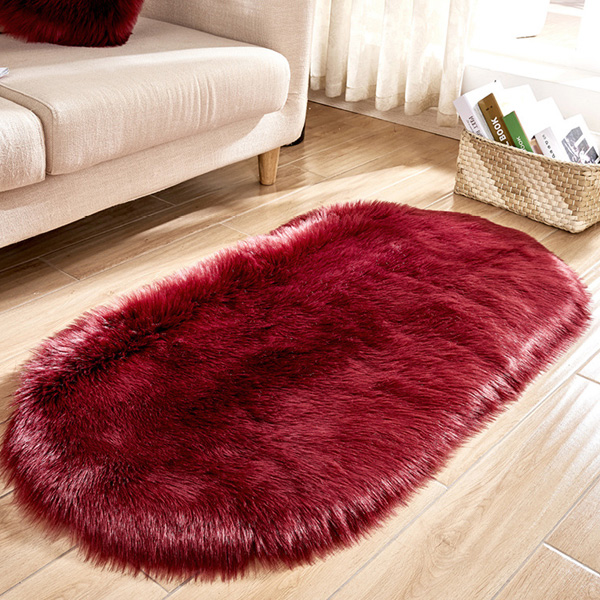 Super Soft Rugs for Living Room Faux Sheepskin Rug
