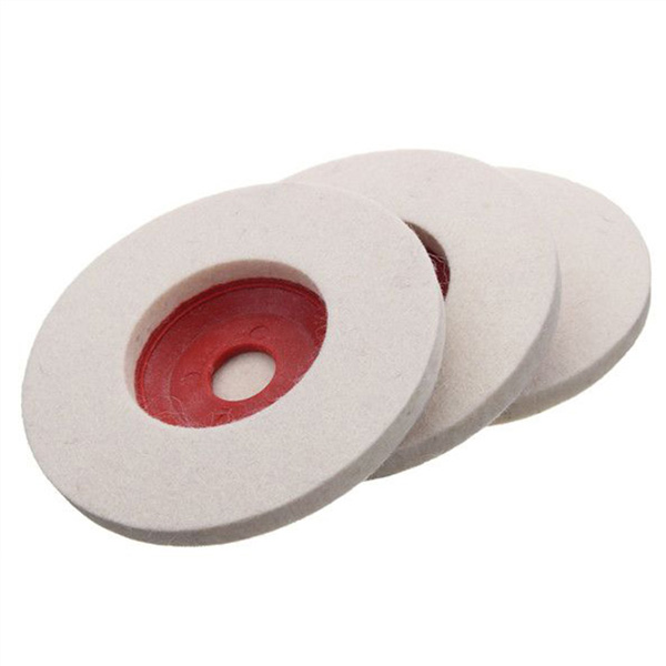 High quality custom 100% wool felt angle grinder polishing disc