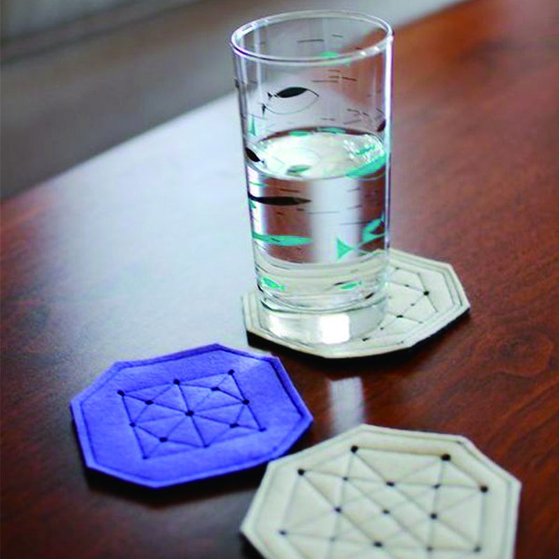 Hot Selling Glass Coaster Felt Cup Mat Drink Pad With Custom Logo