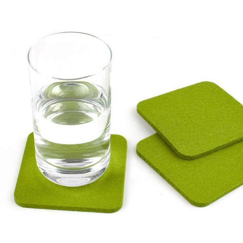 Mats & Pads cup coaster soft felt coaster for promotion 15*15cm