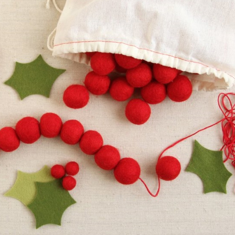 The most popular Christmas Decoration handmade felt balls