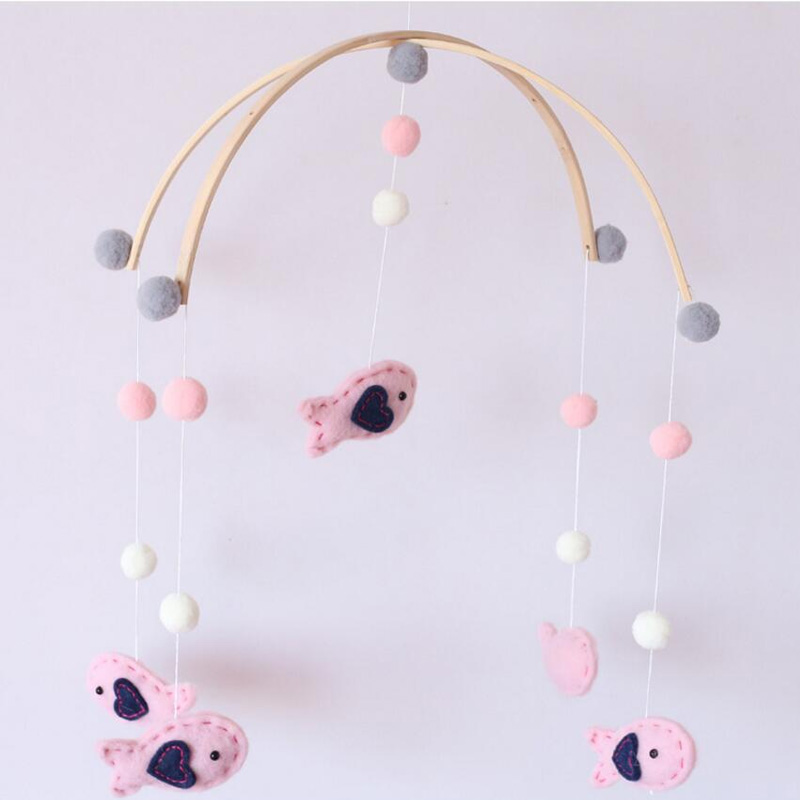 Wholesale hanging wool felt wind chimes for baby room