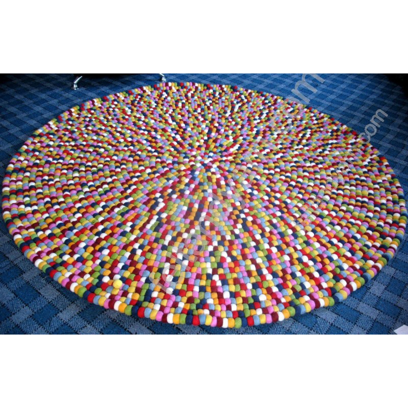 Nonwoven Polyester Needle Felt Balls Rug and Carpet With Cheap Prices