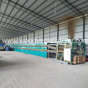 Efisiensi Tinggi Roller Core Veneer Plywood Mesin Pengeringan