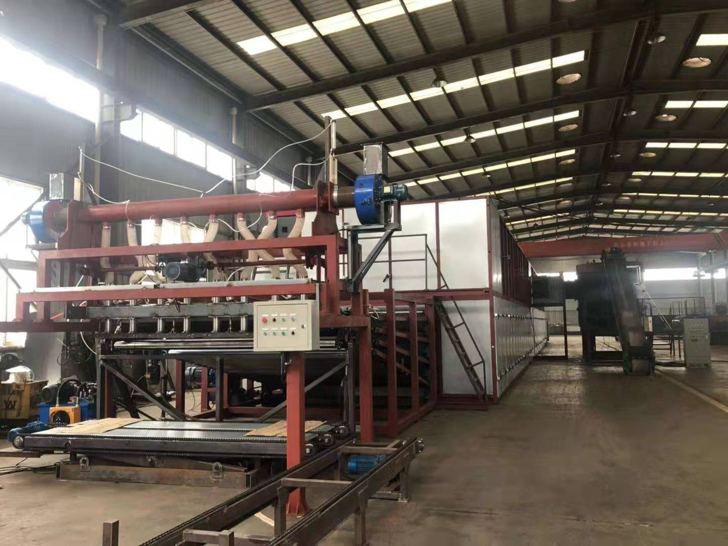 Shine 4 Deck Veneer Roller Dryer with Automatic Feeder and Collection System