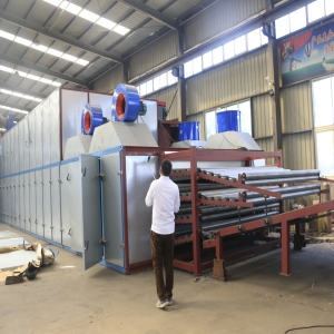 Continuous Veneer Roller Dryer Direct Heating Air