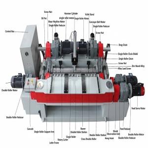 Long Life servo motor wood veneer making machine