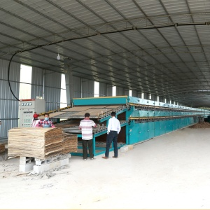 Roller Dryer can be heated by direct burning of crushed wood chips