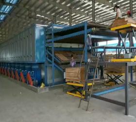 Biggest Drying Volume 4 Floor Veneer Roller Dryer Machine