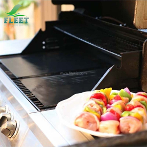 High Temperature Black Ptfe BBQ Grill Mat for Shredded Meats