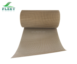 4mm*4mm Mesh Size Brown Teflon Coated Glassfiber Fabric