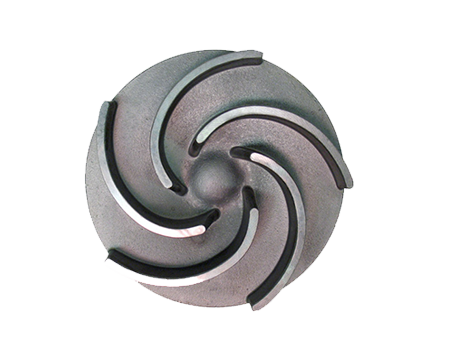 OEM metal casting semi-open impeller