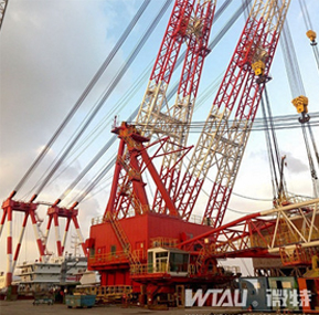 3600T Floating Crane with WTAU load moment indicator system