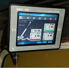 WTAU Load Moment Indicator WTL-A700 LMI system served for 40t GROVE TMS 300B at Mexico