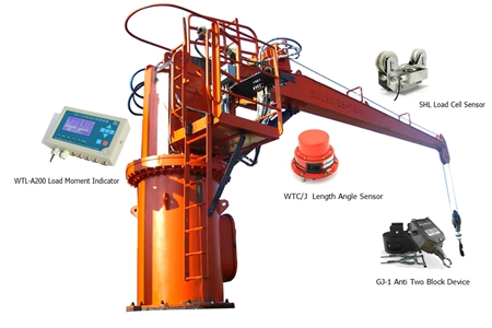 Deck Crane/Ship Vessel Crane Safe Load Indicator System