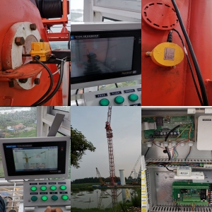 135t luffing jib tower crane safety monitoring system with CCTV Camera Vedio system