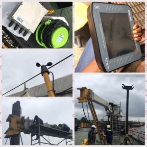 Anti-explosion WTAU Crane LMI System on 60t vessel crane in Nigeria
