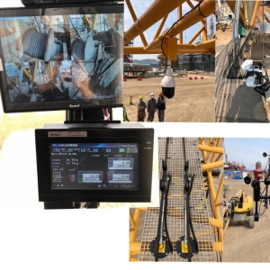 Liebherr LRI300 crawler crane equipped with WTL-A700 safety monitoring system