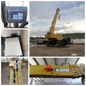 25t kato mobile crane rated capacity indicator system for thailand customer