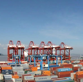 Weite Support Sany Crane to Serve Ningbo Port