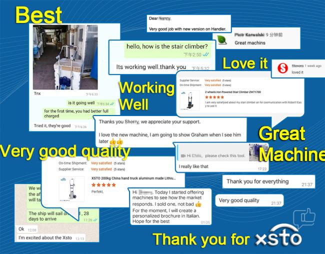 XSTO customer reviews